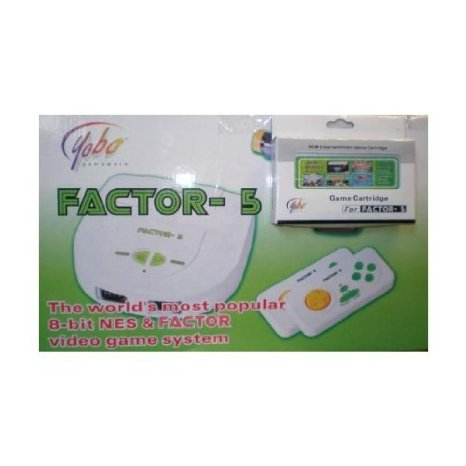 New AKA Yobo Factor-5 Video Game System with 5 Games!