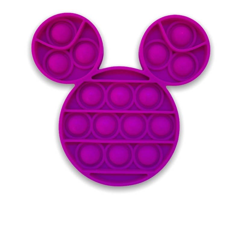 Purple Pop It Toy AKA Popping Toy Mickey Mouse Style Head