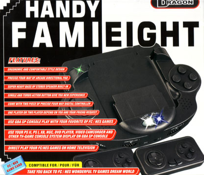 Dragon Handy FamiEight Console System Compatible with Gameboy Advance SP