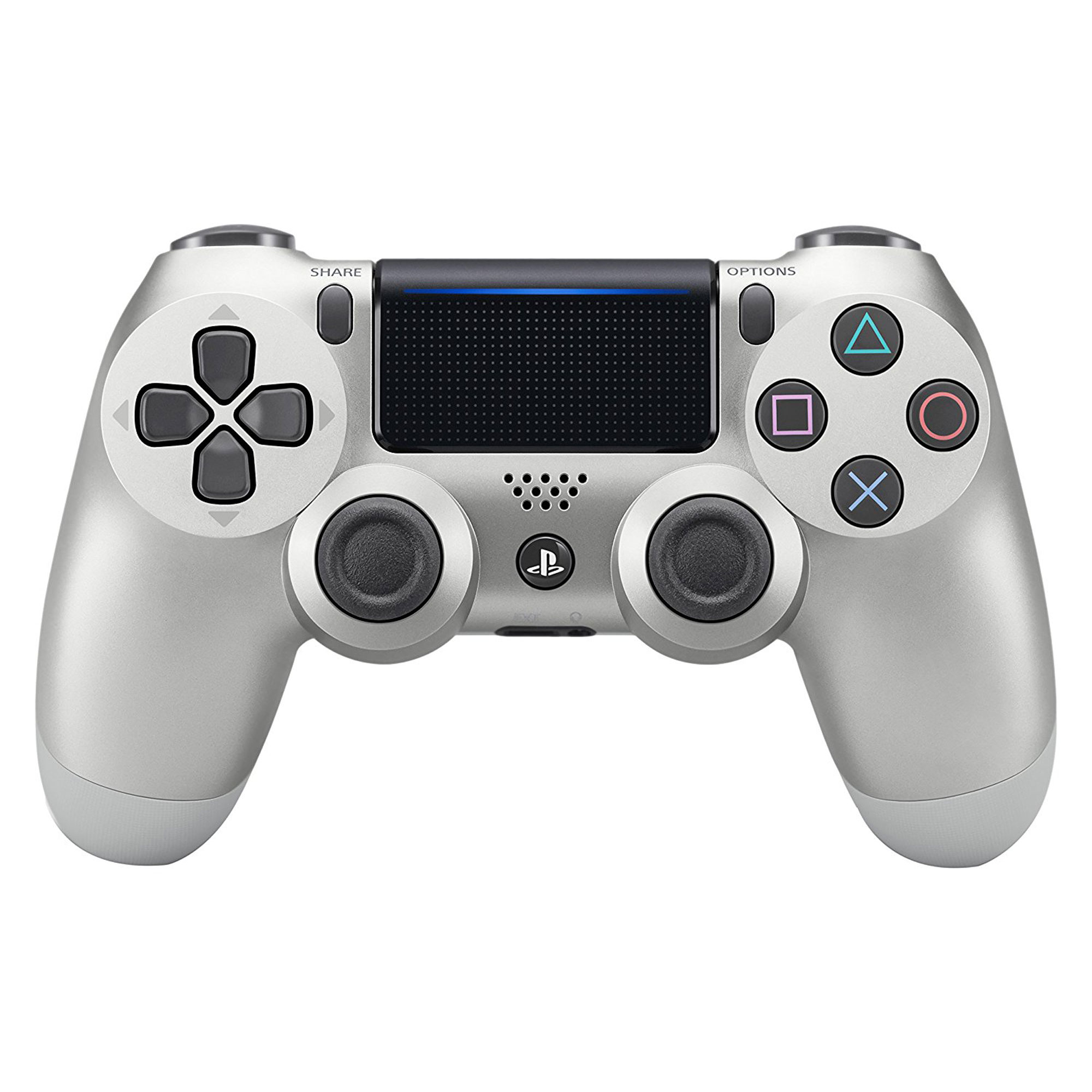 Silver Playstation 4 Controller Pad AKA PS4 Silver Dualshock 4 Style Controller